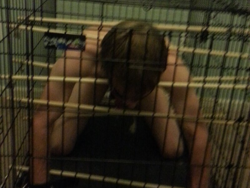 Boy Locked in Cage