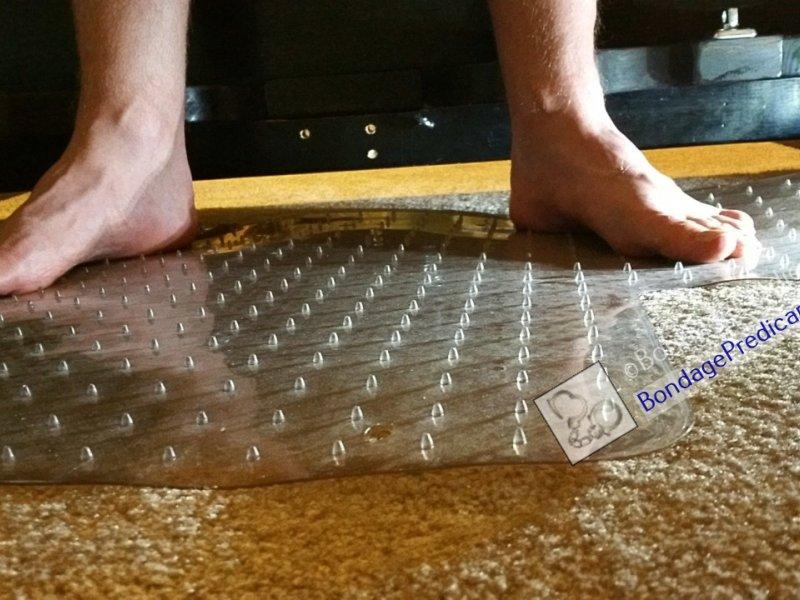 Barefoot Spiked Mat Predicament