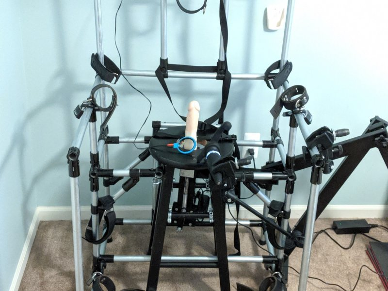 Bondage Chair Restraints Dildo Fucking Machine