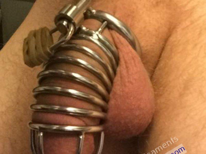 Boy Locked in Chastity Hard