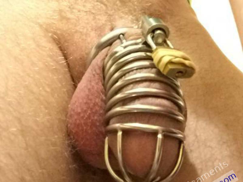 Boy Locked in Chastity