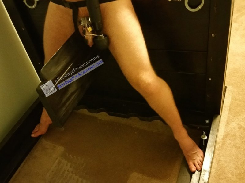 Chastity Wooden Horse Edging Barefoot Spiked Mat Predicament
