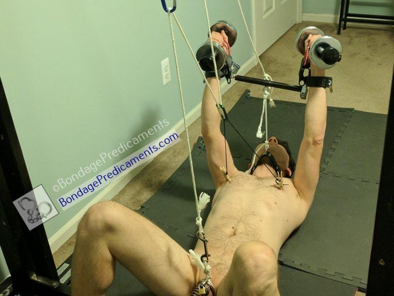 Dumbbell Predicament Bondage Forced Workout