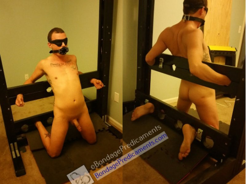 Gboy Locked in Stocks Arched Back