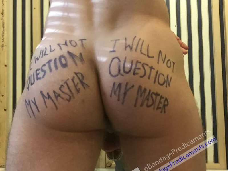 Owned Boy Body Writing on Ass