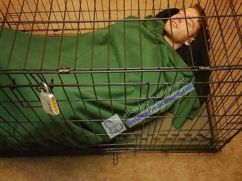 Sub Sleeping in Cage