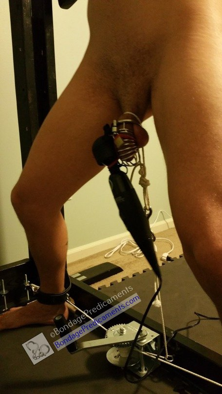 Stretched on Rack CBT Chastity Edged