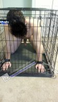 Caged BDSM Pup
